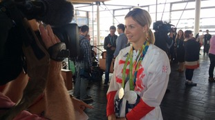 Becky James speaking to ITV Wales