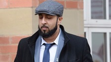 Amar Tasaddiq Hussain pictured outside Stafford Crown Court during his trial in April.