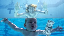 Photographer recreates Nirvana album cover 25 years on