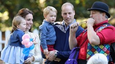 George and Charlotte enjoy Canadian children's party