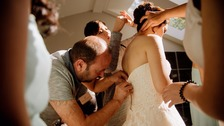 Syrian refugee tailor rescues wedding days after arrival in Canada
