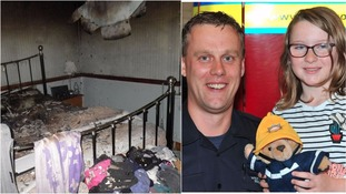 Isobelle McLennan said thanks to firefighter David Cheesbrough  after the blaze at her home