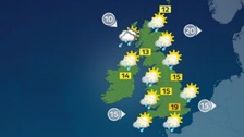 Sunshine and showers across the UK