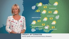 Wales Weather: sunny spells and scattered heavy showers