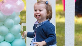 'Pop!' Princess Charlotte says her first words in public
