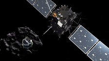Rosetta the spacecraft crashes into comet