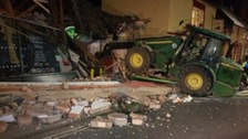 Thieves try to steal ATM - knock down whole building