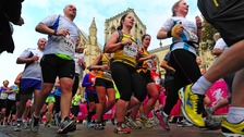 Runners in the Yorkshire Marathon in 2013