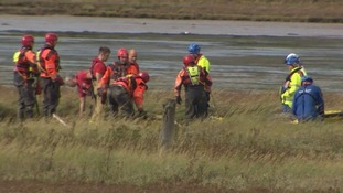 The scene at Breydon Water in Great Yarmouth.