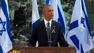 President Obama leads tributes at funeral of former Israeli president Shimon Peres