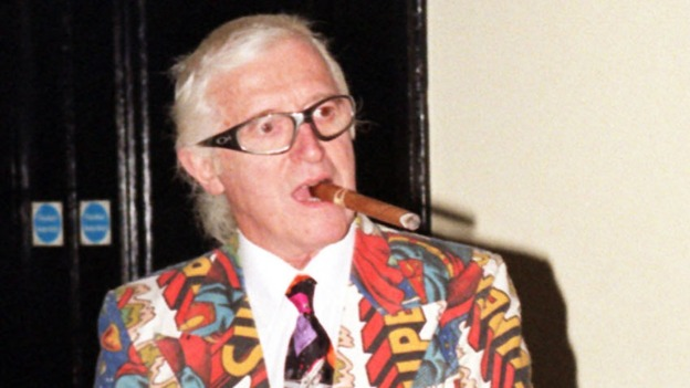 Jimmy Savile pictured at the Army Staff College in Sandhurst in October 1999