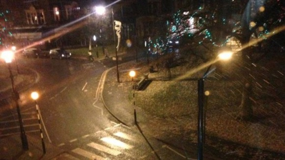 Snow started falling in Harrogate late last night.
