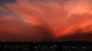 Snow storms over South Shields early this morning.