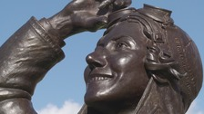 The new statue of Amy Johnson was unveiled today