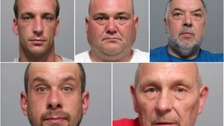 Five men jailed for 112 years for conspiracy to murder