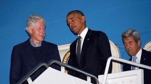 Barack Obama and Air Force One 'held up' by Bill Clinton