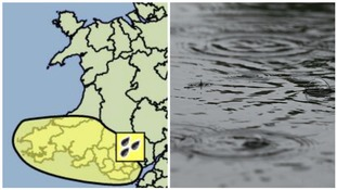 Met Office issues yellow 'be aware' warning of rain for south Wales