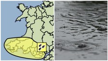 Met Office issues 'be aware' warning of rain for south Wales