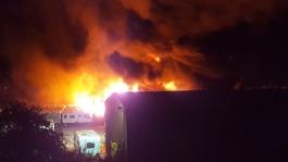 Huge fire damages 160 caravans in Somerset