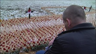 Family and friends of fallen soldiers attended