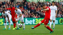 Swansea City lose 1-2 to Liverpool at the Liberty Stadium