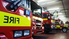 Five firefighters injured after collision