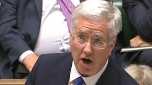 Sir Michael Fallon, Defence Secretary debating the renewal of Trident in Parliament