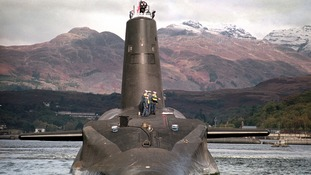 Royal Navy's Vanguard class submarine, which carries Trident missiles