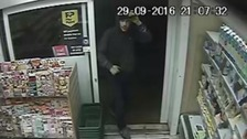 Two men entered the Costcutter on the High Street at around 9pm on 29 September.