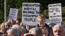 'Save Our Beds' protest outside Okehampton Hospital