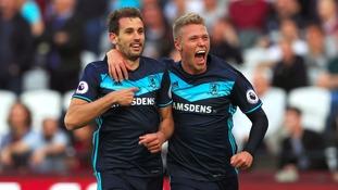 Premier League match report: West Ham 1-1 Middlesbrough