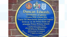 Plaque dedicated to Duncan Edwards unveiled in Dudley