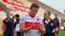 Hull Kingston Rovers' Will Jubb leaves the field dejected