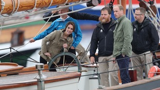 Kate and William steer a ship as royal tour of Canada ends