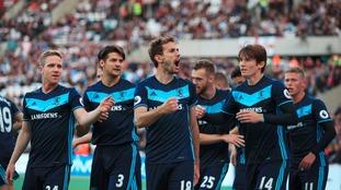 Middlesbrough's Cristhian Stuani celebrates scoring.