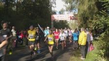 Kielder marathon participants.