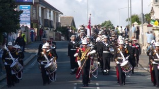 HMS Raleigh hits the streets for Freedom of Torpoint Parade