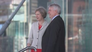 Theresa May and Carwyn Jones met when the Prime Minister visited Cardiff