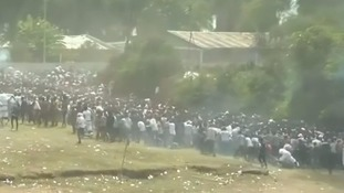 Dozens killed in Ethiopia stampede after police fire at protesters