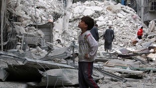 Civilians have been caught up in the siege of Aleppo.