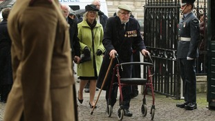 Veterans arriving for a service to mark the 70th anniversary of the Battle of El Alamein, at Westminster Abbey, London.