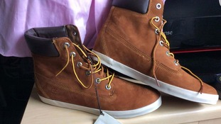 Corrie may have been wearing brown suede Timberland boots like these.