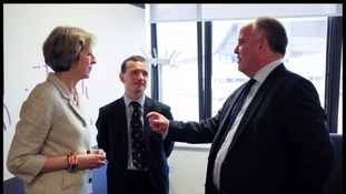 Theresa May, Alun Cairns and Andrew RT Davies