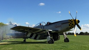 A recent photograph of the P-51D Mustang which crashed on Sunday.