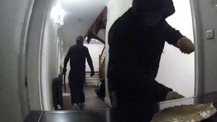 CCTV footage has been released of three burglars raiding a house in Hethersett in Norfolk.