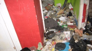 Rubbish in house