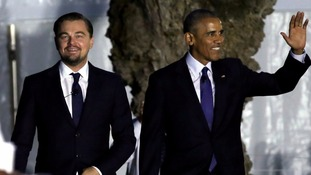 Obama and DiCaprio join forces to call for climate change action