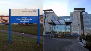 Hinchingbrooke Hospital and Peterborough Hospital.
