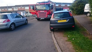 Fire service issue parking warning