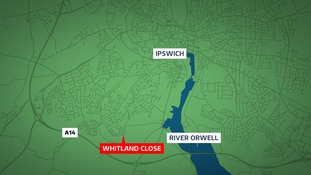 Police in Ipswich are searching for an attacker after two teenagers were stabbed on Whitland Close.